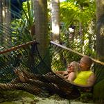 Relax in one of our many Garden Hammocks, while listening to birds chirping.
