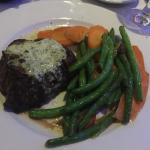 filet mignon with double veggies