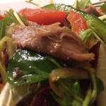 Crispy duck salad, amazing.