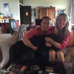 オーナーのTracyさん、パートナーのWolfgangさん、愛犬のMinnie とLewis が家族のように迎えてくれました。