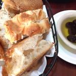 some bread with olive oil