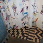 Lovely- half a shower curtain