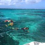 Duane, snorkeling with my son and brother-in law