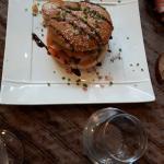 Hamburger  aux Saint Jacques  un vrai délice et saumon façon  orloff