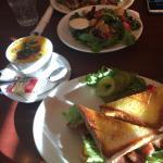 BLT , soup and salad