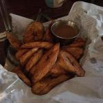 Plantains and dipping sauce