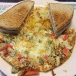 Vegetable white omelet
