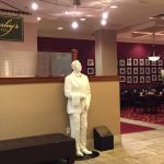 Charley welcomes you to the restaurant