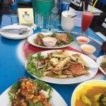 Choice of seafood dishes