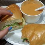 Two of my favorite food here are egg salad sandwich and cream of tomato soup
