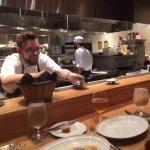 Chefs table, friendly kitchen staff