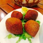 Kibbeh - quite good. A bit small. Light and cut crunchy. Disappointed when they were all gone! -