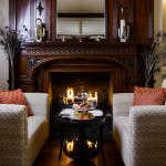 Monks Lounge fireplace