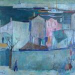 """Sozopol"" by Georgi Bozhilov, oil on canvas"