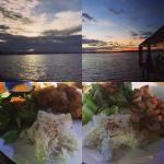 Sunsets and tasty dinner