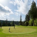 Out on the Port Ludlow Golf Club greens