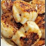 Diver scallops with lemon butter