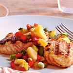 Broiled Artic Char with mango salsa