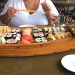We order a boat load of Sushi & that is exactly what we got!