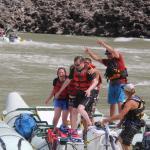 Shenanigans at 'Sailor Bar' Rapid on the Fraser river.