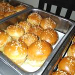 mini burger for happy birthday party