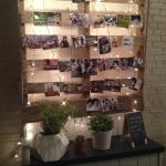 Serving Silk Road Organic Tea and Bows & Arrows coffee. Photo wall...