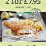 meal deal 2-4-£7.95, great menu to choose from.