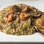 Risotto with truffles and shrimps