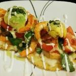 Shrimp Tostada Appetizer - there is at least 12 fresh shrimps :D~
