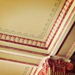 Detail on ceiling in Finlen Hotel