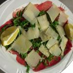 Carpaccio de bœuf et ses copeaux de parmesan