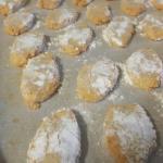 Homemade fresh ricciarelli biscuits