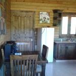 Dining table with chairs at villa No.3, Villas Las Neblinas