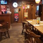 Smokehouse burger and upstairs bar