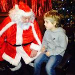 Seeing Santa for £2 including gift and drink