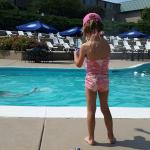 Poolside with my 4 year old. Great way to spend a warm summer day!