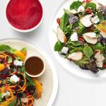 Delicious salads, juices, and smoothies