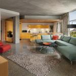 Loft Suite Living Room Kitchen