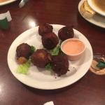Boudin Balls. $7.95. These are a favorite of mine. Fried balls of rice and sausage. I love them!