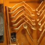 A display of Early People's living utensils