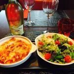 Lasagne aux deux saumons et sa salade verte