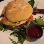 Fabulous grilled chicken burger