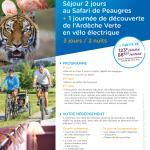 Séjour Safari Peaugres + vélo éléctrique