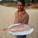 Gautam with fresh red snapper
