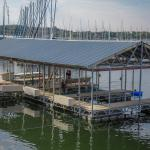 Covered Dock for swimming , fishing , boating