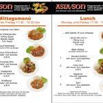 Unser Mittagsmenü / Lunch menu