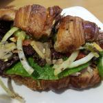 Chicken in Croissant Sandwich