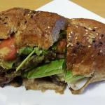 Roast Beef in Baguette Sandwich