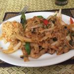 Spicy noodles (pad kee mao)