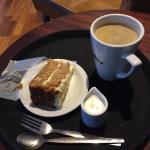 Large Americano  & carrot cake £5.20  It hit the mark at 17:00 waiting for my nearest & dearest.